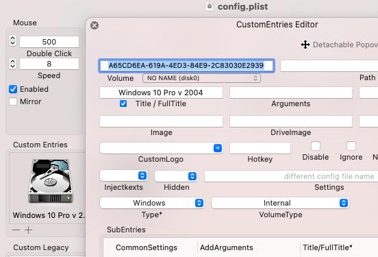 remplacement clover par opencore Entrie12