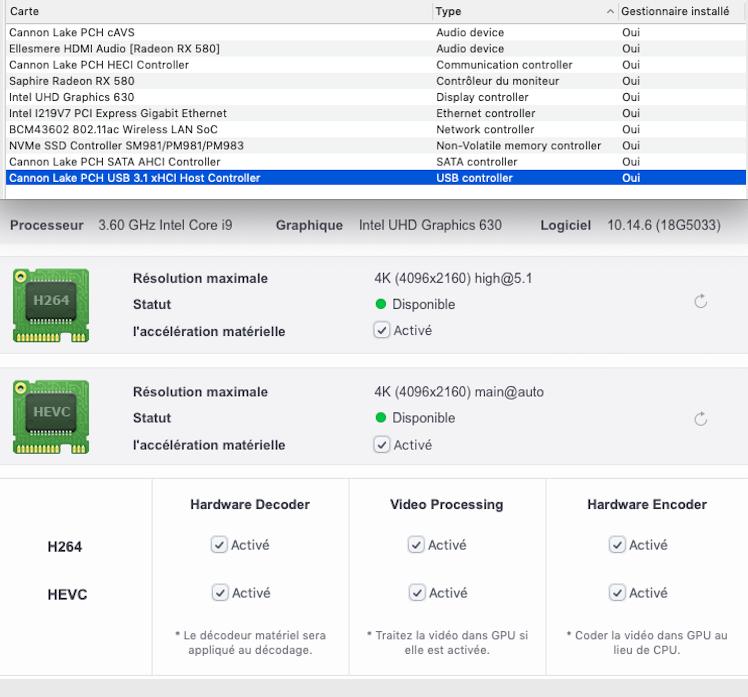 MSI 390 + I9 9900k + AMD Saphire 580 Hevc1010