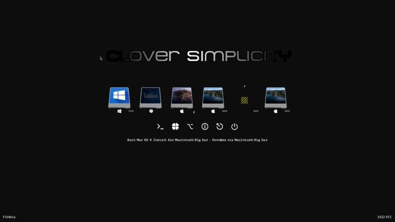 Problème bootloader clover 5122 intégration Screen13