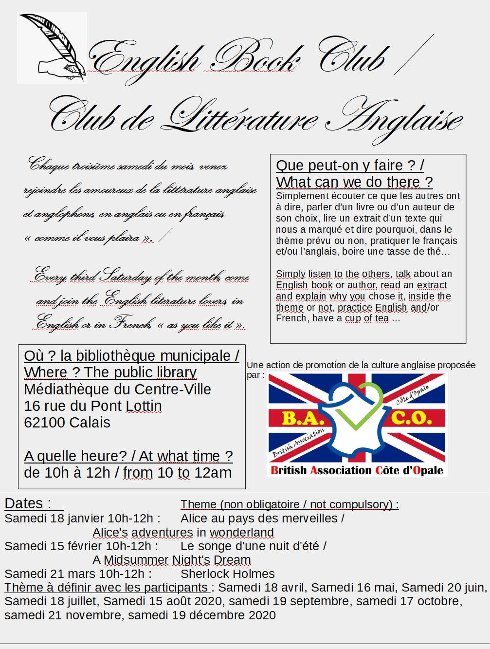 English Bookclub / Club de littérature anglaise Visuel10