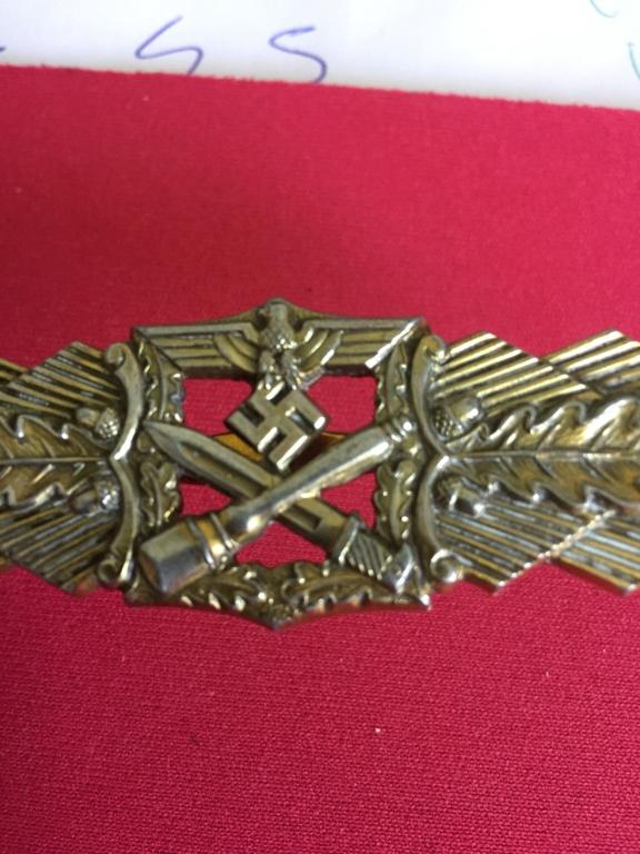 """estimation badge  Nahkampfspange """"close combat"""" Img_1967"""