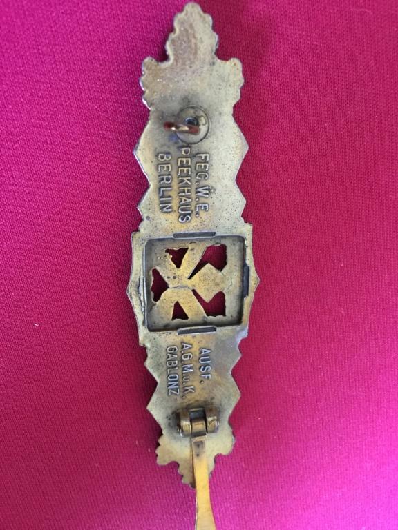 """estimation badge  Nahkampfspange """"close combat"""" Img_1968"""