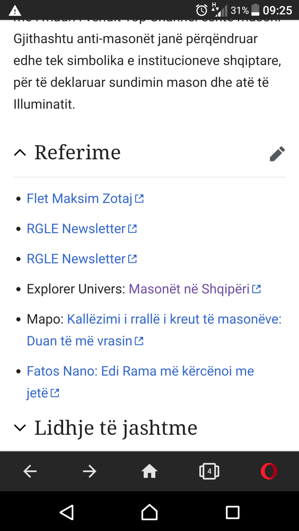 Kur wikipedia perdor EU si burim informacioni. Screen10