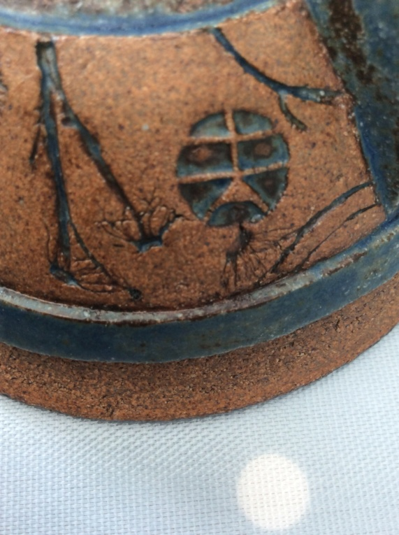 British Pottery Three-Legged Bowl - Mark similar to Hans Coper 4c1e5b10