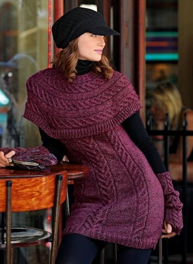 nouvel encours tricot : une tunique et des mitaines assorties 1112mo12