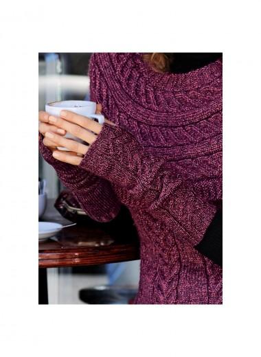 nouvel encours tricot : une tunique et des mitaines assorties 1112mo13