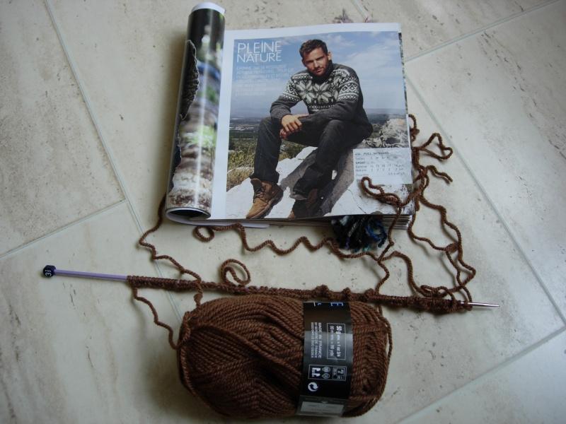 un pull norvégien pour mon mari, début le 27/07/2011 Dscn2412