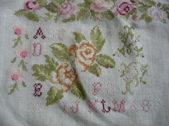 sampler abécédaire aux roses de dmc - Page 3 Dscn2558
