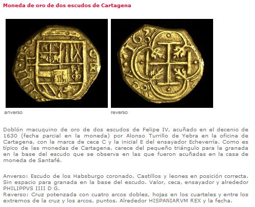 2 Escudos de oro de Felipe IV (Cartagena de Indias, 1633) 2esc10