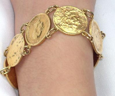 Alfonso XIII medalla?, pulsera?? Gold10