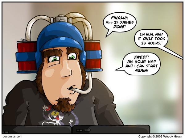 Les quêtes journalières du patch 2.4 / GU Comics Gu_20010