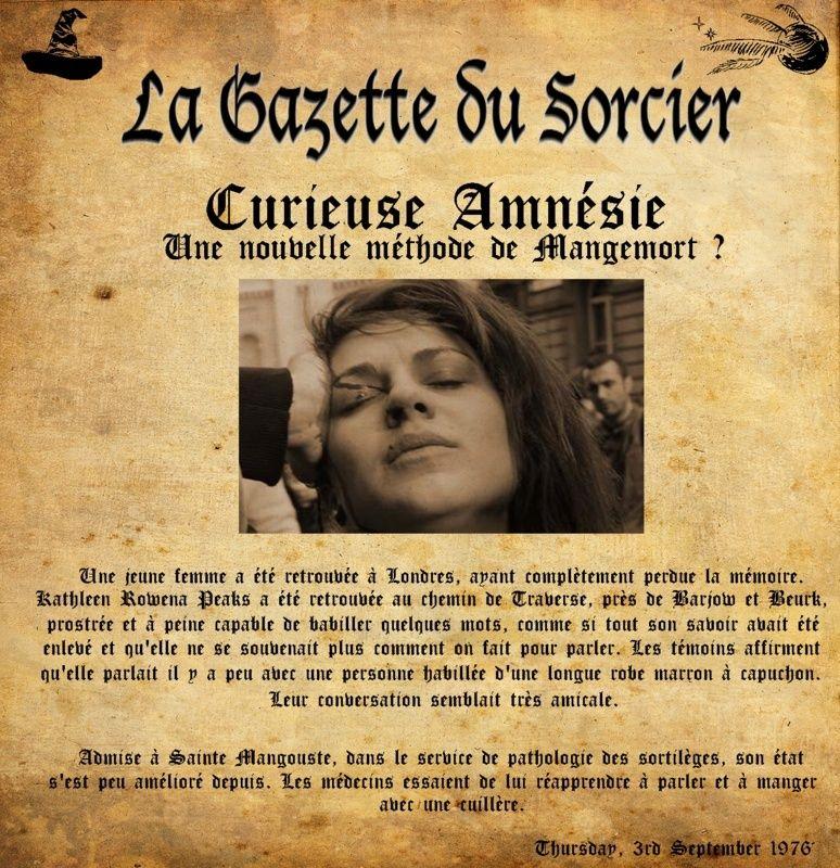 La Gazette du Sorcier jeudi 3 septembre 1976 [intrigue] Gazett10