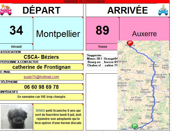 Montpellier (34) -> Auxerre (89) pour sortir un chien de la fourrière ! Covoit10