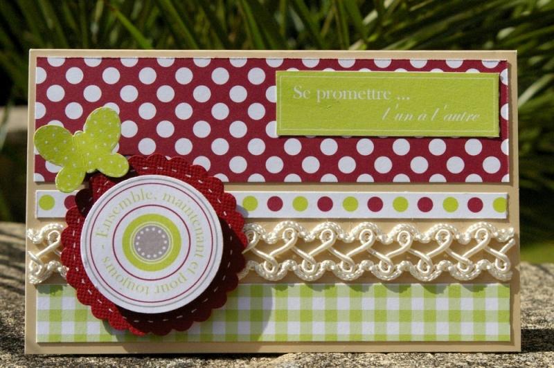 Une urne de mariage décorée + sa carte de félicitations Carte10