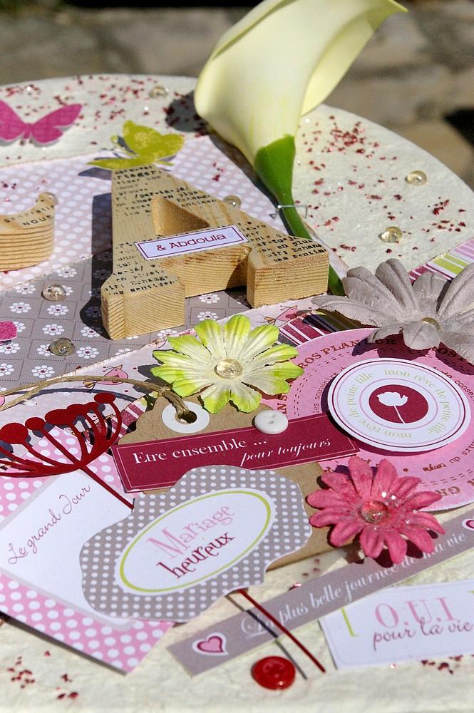 Une urne de mariage décorée + sa carte de félicitations Datail11