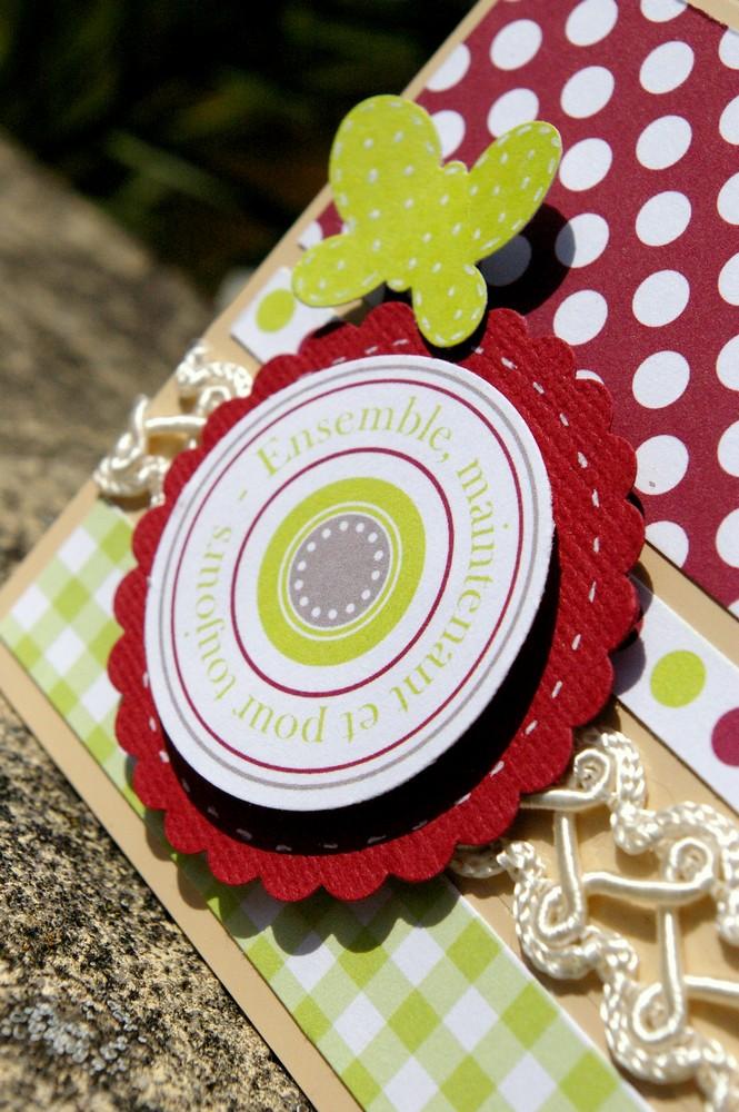 Une urne de mariage décorée + sa carte de félicitations Datail12