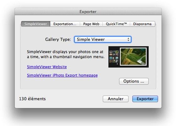 Simpleviewer, créez votre album photo intér-actif - Page 2 Iphoto10