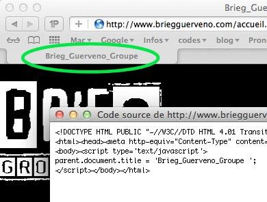 problème avec code html et facebook Title10