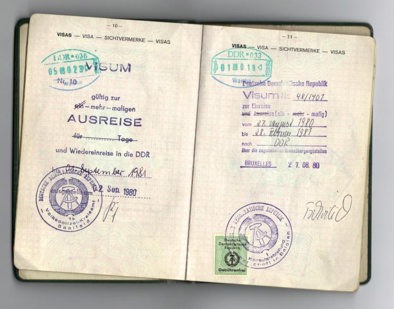 Les visa de nos passeports 18-10-10