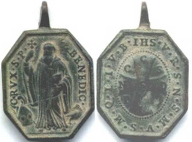 recopilación de medallas de San Benito 23315r11