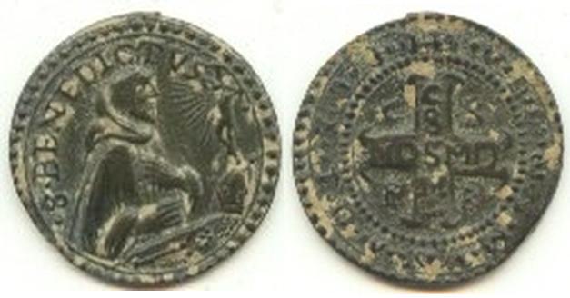 recopilación de medallas de San Benito 710