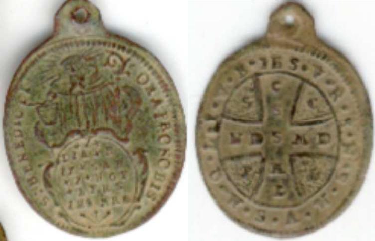 recopilación de medallas de San Benito Da110