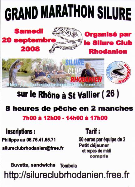 """Grand """" Marathon Silure """" sur le Rhône en septembre 2008 Marath10"""