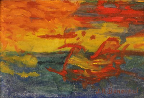coucher de soleil sur l'adriatique par Boronali 0110