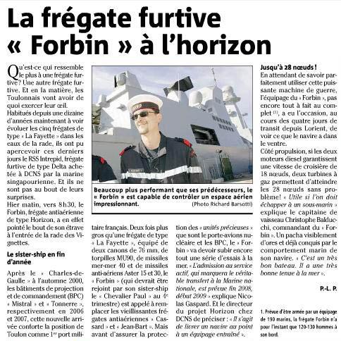 FORBIN  D620 (fregate) - Page 3 Forbin11