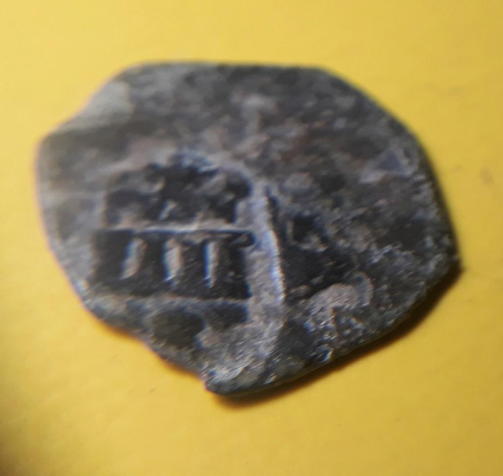 2 Maravedíes o Blanca (?) de Felipe II, Cuenca resellados a IIII mrvs. de 1603, Coruña. 20200314