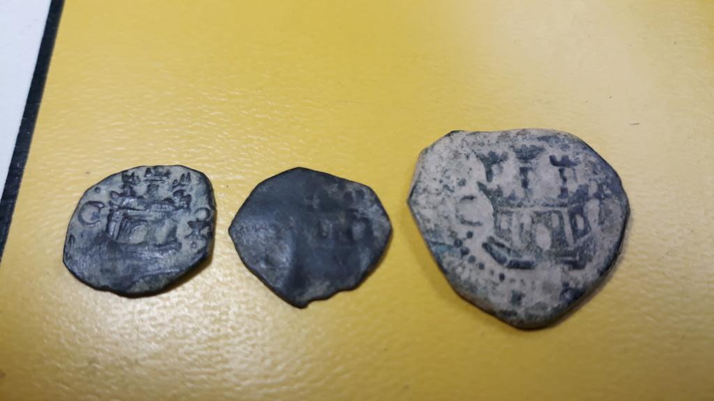 2 Maravedíes o Blanca (?) de Felipe II, Cuenca resellados a IIII mrvs. de 1603, Coruña. 20200318