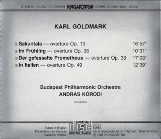 Karl Goldmark (1830-1915) Back32