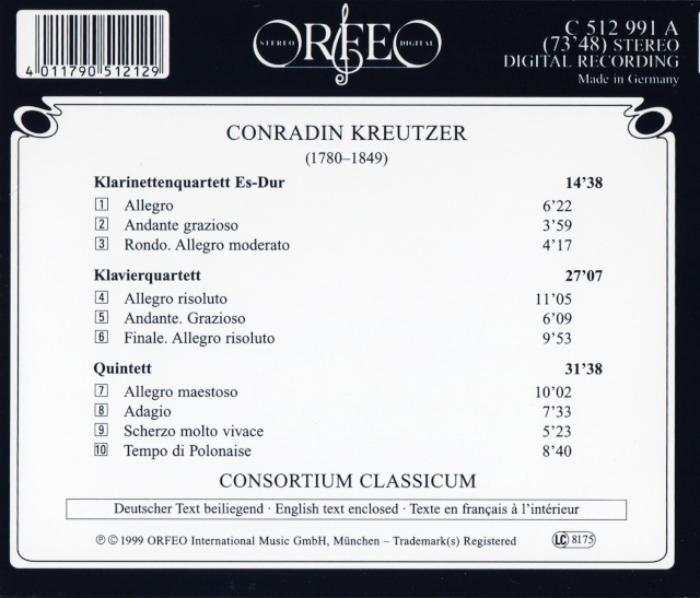 Conradin Kreutzer (1780-1849) Back42