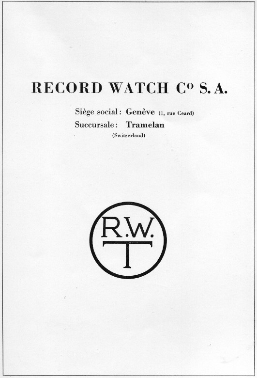 Record Watch Company ? Record12