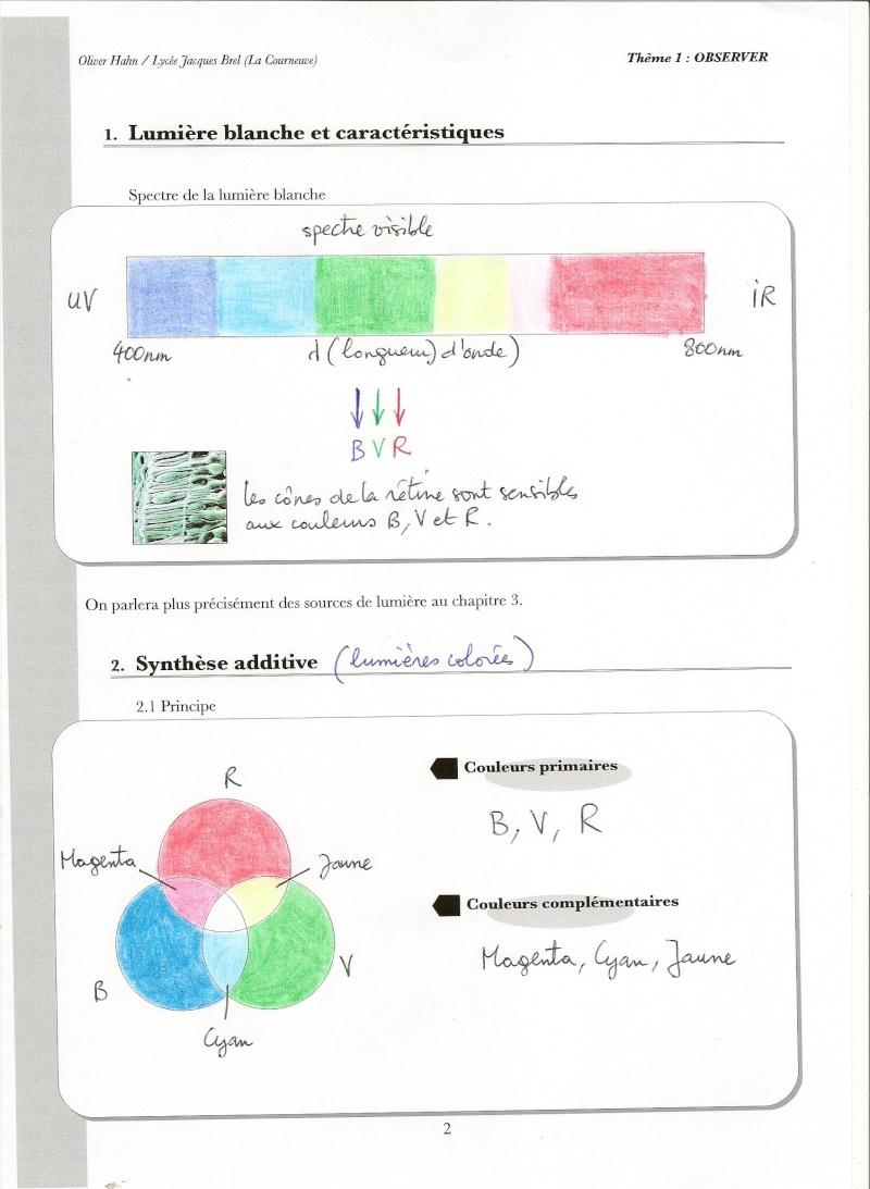 Chapitre 2 : La couleur des objets Numari53