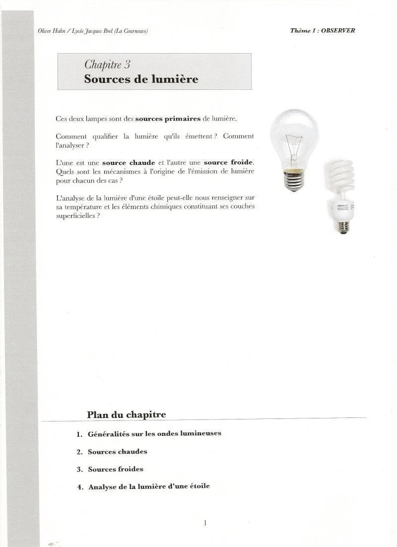 Chapitre 3 : Les sources de lumière Numari56