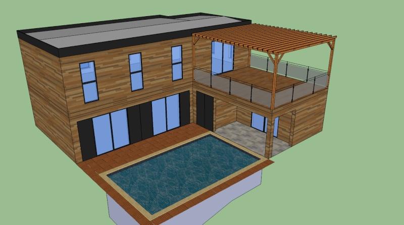 Sketchup maison bois ventana blog for Outil miroir sketchup