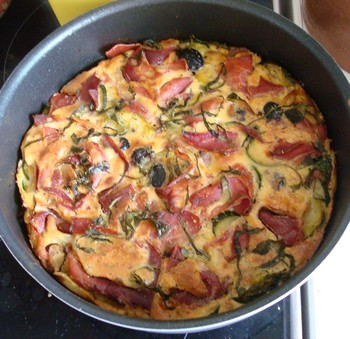 clafoutis jambon et courgettes Dsc01011