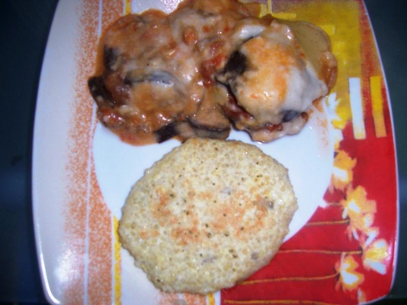 Moussaka à la crème de riz et galettes de quinoa 101_2310