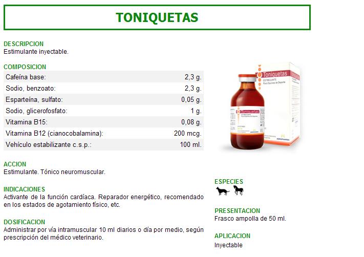 TONIQUETAS  -- ENERGERGIZANTE  $ 15.000 Toniqu10