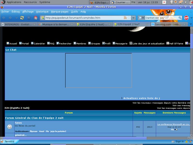 """Modification de """"l'interface"""" Accuei11"""