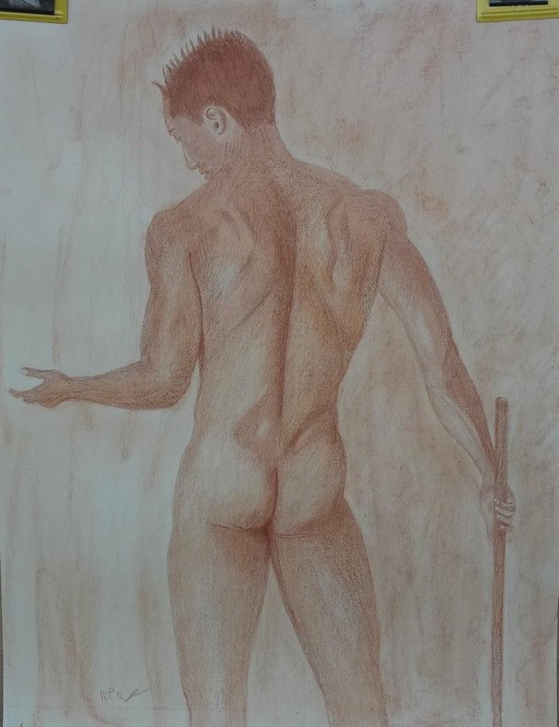 Homme de dos à la sanguine Art_0041