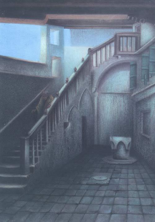William Degouve de Nuncques [Peintre] Cour-a10