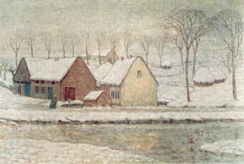 William Degouve de Nuncques [Peintre] Hiver-10