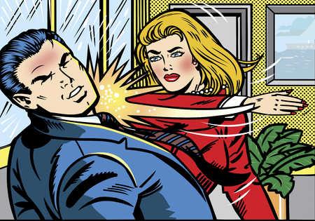 """La délicatesse, chapitres 71 à 99 : """"Elle avança vers lui...mais ce fut pour le gifler."""" Gifle11"""