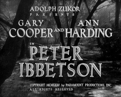 George du Maurier, Peter Ibbetson, Trilby, et Henry Hathaway. Peteri10
