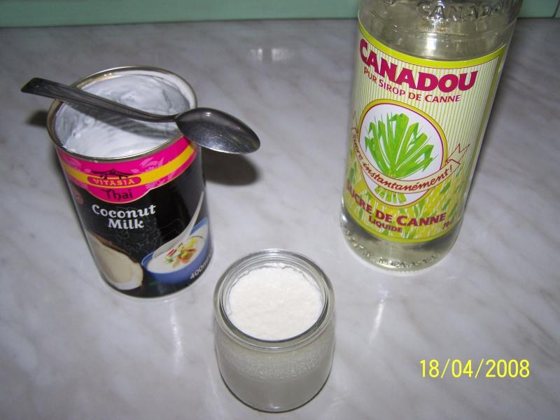 Yaourts à la noix de coco Yaourt17
