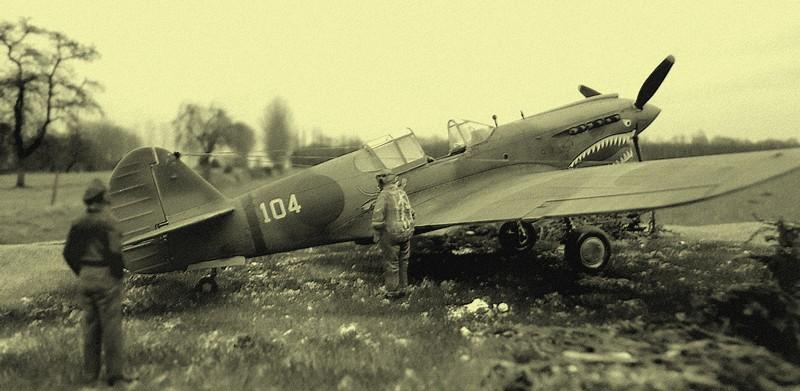 "P-40 E ""Flying Tiger"" Hasegawa 1/48  Dsc00316"