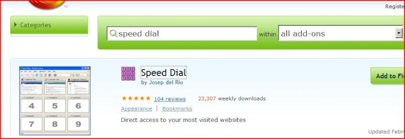 Firefox 2.0 speed dial P210