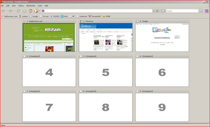 Firefox 2.0 speed dial P510